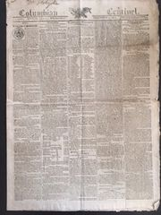 William Henry Harrison and the Battle of Tippecanoe against Shawnee Indian the Prophet Reported in Original Rare and Early Newspaper and also Washington Monument