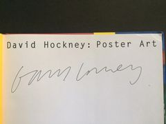 DAVID HOCKNEY SIGNED,1994,POSTER ART COFFEE TABLE BOOK