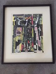 "ABRAHAM RATTNER HAND SIGNED LITHOGRAPH OF ""WINDOW CLEANER"" 1978"