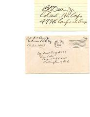 BENJAMIN O. DAVIS, JR. WAR DATED HAND SIGNED TUSKEEGEE AIRMAN COMMANDER
