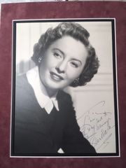BARBARA STANWYCK SIGNED AND INSCRIBED ORIGINAL VINTAGE MATTE-FINISH 10 X 12 B/W PHOTO