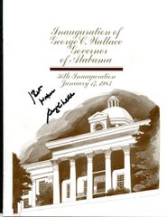 GEORGE C. WALLACE SIGNED 1983 GOVERNOR OF ALABAMA INAUGURATION PROGRAM