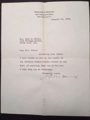 BERNARD BARUCH TYPED LETTER SIGNED BY FINANCIER, STATESMAN, PHILANTHROPIST