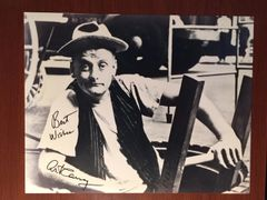 ART CARNEY SIGNED PHOTO LARGE 11 X 14 AS NORTON FROM THE HONEYMOONERS