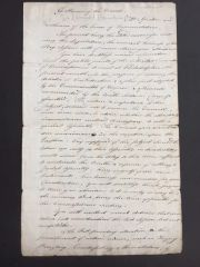 CONTEMPORARY MANUSCRIPT COPY OF SAMUEL HUNTINGTON'S SPEECH MAY 1787 DISCUSSING THE UPCOMING PHILADELPHIA MEETING TO REVISE ARTICLES OF CONFEDERATION