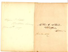 HARRIET BEECHER STOWE AUTOGRAPHED QUOTE AND NOTE SIGNED IN A FAMILY AUTOGRAPH ALBUM
