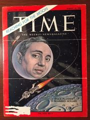 D. BRAINERD HOLMES SIGNED TIME MAG COVER BY AM SPACE PIONEER NASA LUNAR MISSIONS