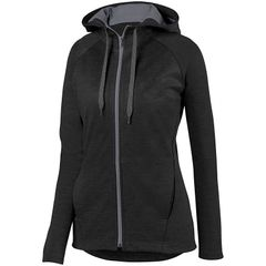 FIREBIRDS LADIES ZOE TONAL HEATHER FULL ZIP HOODIE WITH EMBROIDERED LOGO