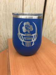 CC FOOTBALL POLAR CAMEL WINE GLASS TUMBLER WITH ENGRAVED LOGO
