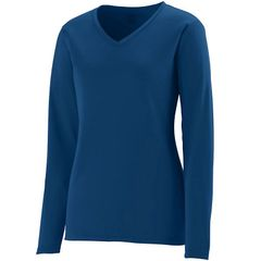 PUMAS LADIES LONG SLEEVE PERFORMANCE T-SHIRT WITH LOGO