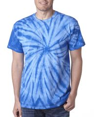 SSLDL TIE DYE T-SHIRT WITH LOGO ON FRONT AND BACK