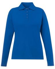 KV CHAMBER LADIES LONG SLEEVE POLO SHIRT WITH EMBROIDERED LOGO