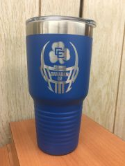 CC FOOTBALL 30 OZ POLAR CAMEL TUMBLER WITH ENGRAVED LOGO