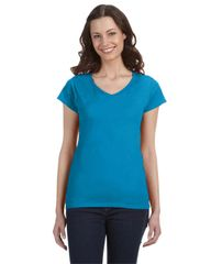 SL HOTEL LADIES V-NECK FITTED T-SHIRT WITH LOGO