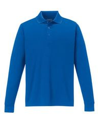 KV CHAMBER MEN'S LONG SLEEVE POLO WITH EMBROIDERED LOGO