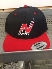 NOVI FLATBILL BASEBALL HAT WITH N NOVI LOGO