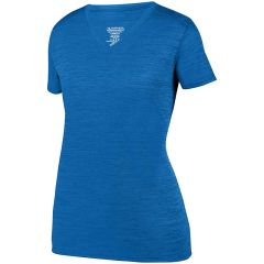 SLTB LADIES TONAL HEATHER T-SHIRT WITH LOGO