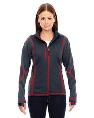 FIREBIRDS LADIES BONDED FLEECE JACKET WITH EMBROIDERED LOGO