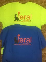 FERAL KITTY T-SHIRT WITH LOGO