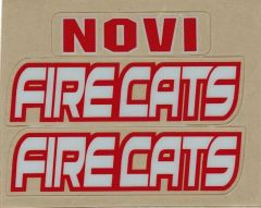 FIRECATS HELMET DECALS