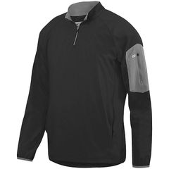 GUERNSEY PREEMINENT 1/2 ZIP PULLOVER WITH EMBROIDERED LOGO