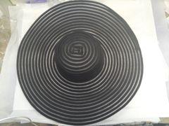Large Wide Brim Black Hat