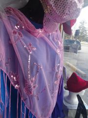Pink Shawl with Sequin #2799