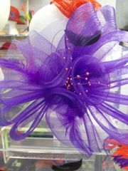 Large Purple Fascinator