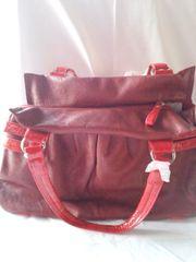 Red Leather Like Handbag
