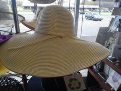 Off White Wide Brim Hat #3068