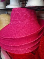 Fushia Soft Straw Hat #3046