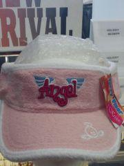 Pink Angel Terry Cloth Sun Visor #2657