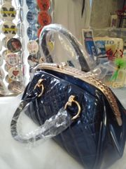 Blue Mesh Design Purse #2808