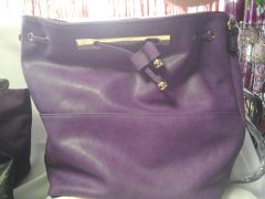 Purple Faux Leather Handbag