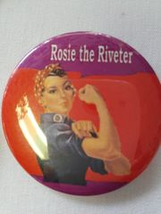 Rozie the Riveter Button #2151