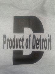 Gray/Black Product of Detroit Shirt #4018