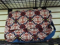 Quilted Navy/Red Laptop Bag