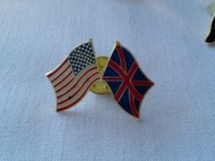 British/ US Lapel Pin