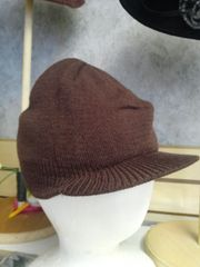 Brown Knit Cap #3508