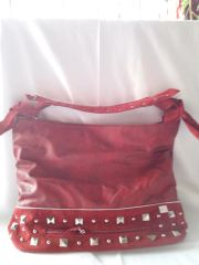 Red with Suede Handbag