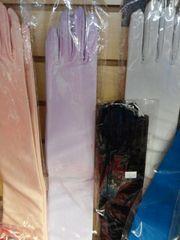 Ex Long Lavender Satin Gloves #2874