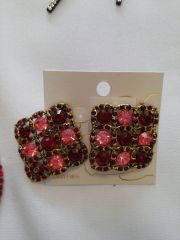 Dark Red Earring Set