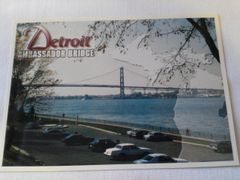 Detroit Ambassador Bridge Postcard