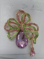 Green and Pin Brooch 5832