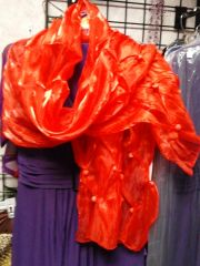 Red Organza Shawl
