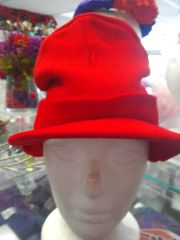 Red Winter Cap with Bib #2687