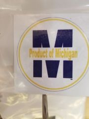 Product of Michigan Window Decal 418249