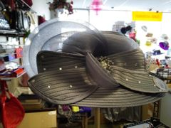 Lg Silver Dress Hat #2831
