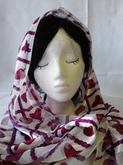Red Hat Scarf - White