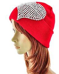 Hat with Rhinestone Heart #3528
